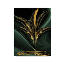 Load image into Gallery viewer, nordic poster and prints wall art Gold Leaf modern abstract canvas painting golden plant leaves decorative picture for bedroom