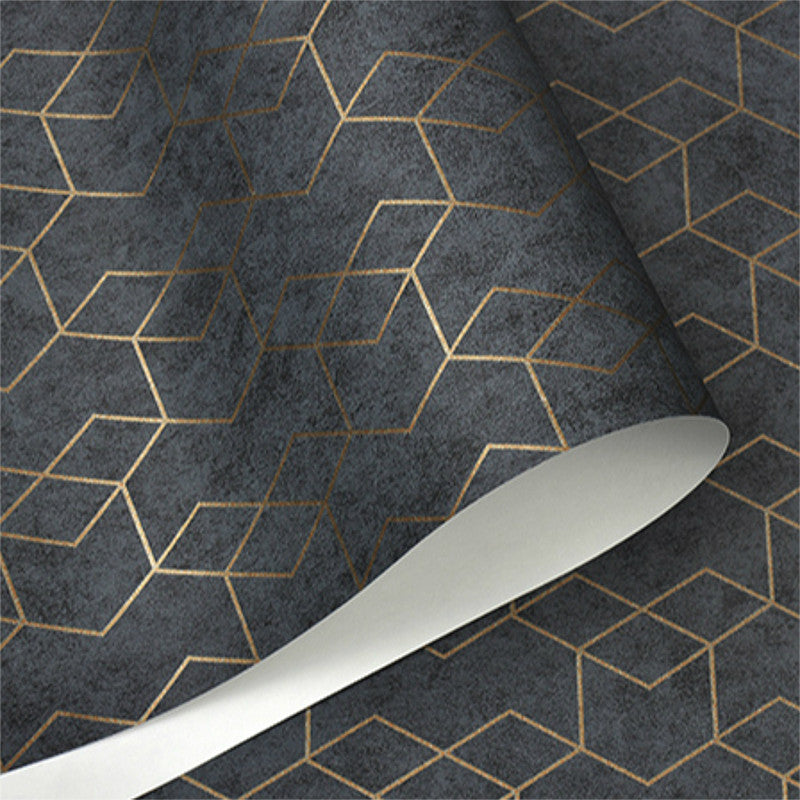 Dark Grey Luxury Geometric Wallpaper Roll