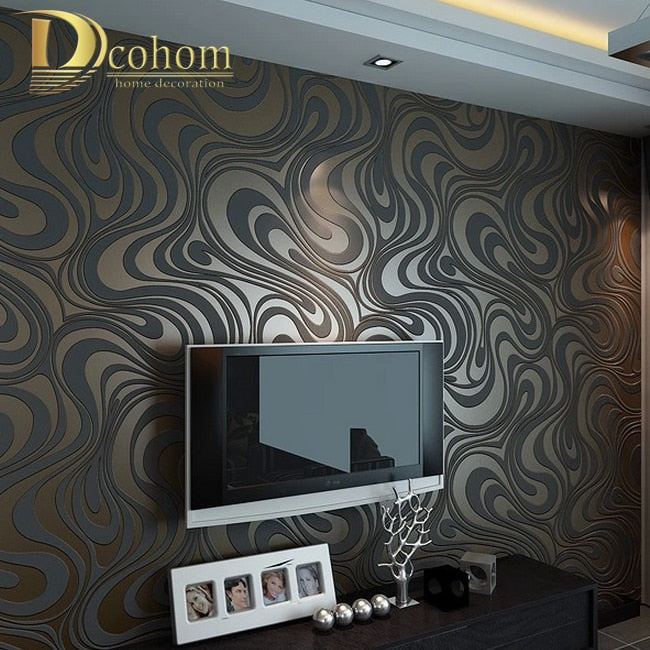 High quality Modern Luxury 3d wallpaper roll mural