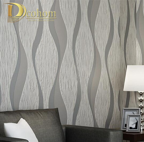 White Grey Stripes Wall Paper