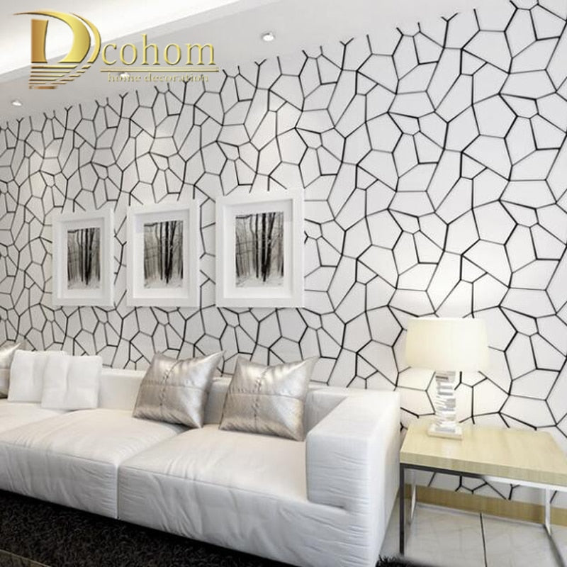 Luxury Modern 3D Abstract Geometric Wallpaper