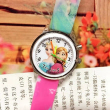 Load image into Gallery viewer, 2019 Children's Watch with Electronic Colour Light Source Girls Gift Clocks Children's Wrist Princess Elsa Children's Watch