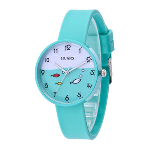 2019New Silicone Jelly Candy Color Watch Student Watch Boys Girls Fashion Children's Kids Watches Cartoon Wrist Quartz Watch