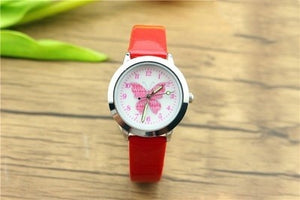 2019 New Fashion Brand Children's Watches Kids Quartz Watch Student Girls Cute Colorful Butterfly Dial Waterproof Watch