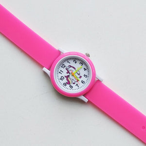Cartoon Rainbow Unicorn Style Round Dial Children's Watches Kids Watch Student Boys Girls Clock Quartz Wrist Watch Baby Pony Toy