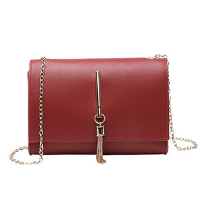 Lady Shoulders Tassel Package Letter Purse Mobile Phone Messenger Bag Luxury Large Capacity Bag Ladies Leather Handbags