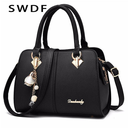 2019 Women Hardware Ornaments Solid Totes Handbag High Quality Lady Party Purse Casual Crossbody Messenger Shoulder Bags Bolsas
