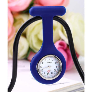 1Pcs Mini Portable Silicone Doctor Nurses Pocket Fob Watch Multiple Colors Brooch Pin Pendant 5 Colors