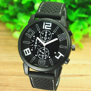 Man's Luxury WristWatch Casual Quartz Stainless Steel Dial Sports Wrist Watch cool Watches black