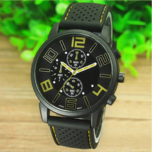 Load image into Gallery viewer, Man's Luxury WristWatch Casual Quartz Stainless Steel Dial Sports Wrist Watch cool Watches black