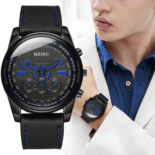 2020 New Luxury Men Watch Leather Military Sport Man's Watches Stainless Steel Quartz Wristwatch Male Watch Clock reloj hombre