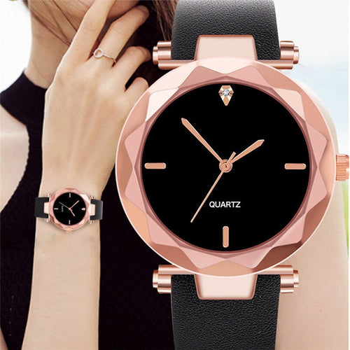 2019 Fashion Luxury Quartz Watch woman's Watch Leather Band Distinguished Clock For Women Simple Style Ladies Watches