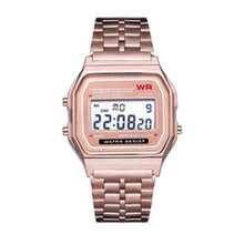 Load image into Gallery viewer, Ultra-thin F91w sports Children's electronic watches alarm children clock Stainless Steel strap men watch for kid boy girl gift