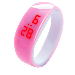 2018 New LED Children's Cute Candy Color Digital Display Bracelet Watch Students Silica Gel Sports Watch Multicolor Selectable
