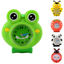 Load image into Gallery viewer, Candy Colors 3D Cartoon Children's Watches Quartz WristWatch Sports Silicone Slap Watch For Kid Toys