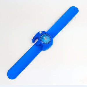 Candy Colors 3D Cartoon Children's Watches Quartz WristWatch Sports Silicone Slap Watch For Kid Toys