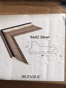 "9642 Silver - 65"" DIY Mirror Booth Frame"