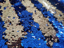 Load image into Gallery viewer, Blue & Gold Sequin Mermaid Backdrop