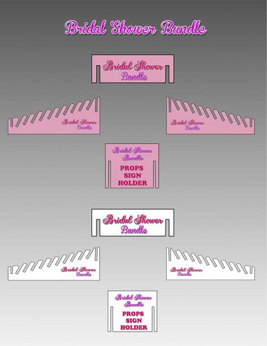 Prop Sign Holder - Bridal Shower Party