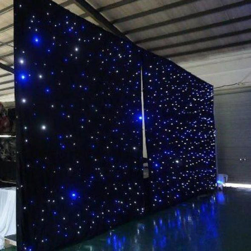 Starlight LED Curtain Fabric With LED Controller