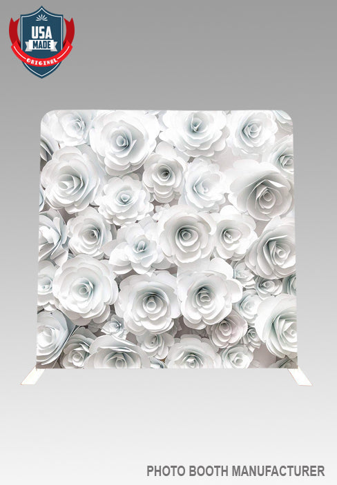 8' x 8' Flower Wrinkle Free Backdrop with Stand Kit