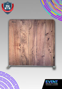 8' x 8' Wood Wrinkle Free Backdrop with Stand Kit