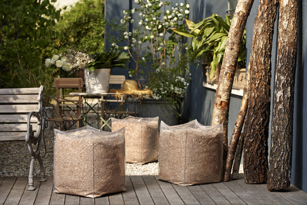 Profumo per ambiente: POUF IN SCORZA D'ABETE - , Uso Indoor/Outdoor | Anna Paghera Official Store - 3