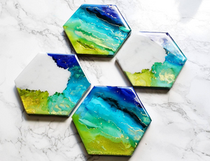 Metanoia Marble Coaster Set