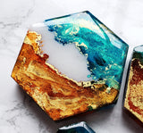 Near The Equator Mixed Marble Magnet Set