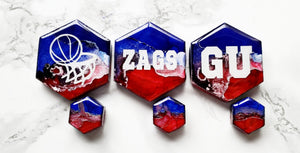 Zags Inspired Mixed Marble Magnet Set