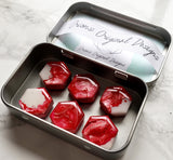"Blooming Rose 1"" Marble Magnet Set"