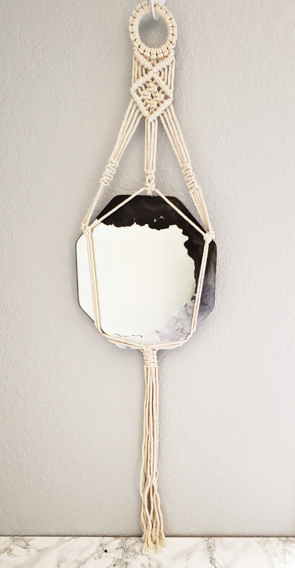 Smoke & Mirrors Macrame Hanging Mirror