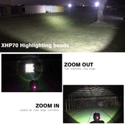 5000LM 3-Mode Rechargeable LED Headlamp - Halex Outdoor Gear