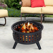 "26"" Round Lattice Fire Pit - Halex Outdoor Gear"