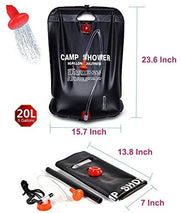 20 Liter / 5 Gallon Solar Heated Shower Bag - Halex Outdoor Gear / Survival / Tactical