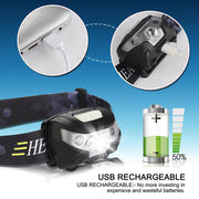 4000LM LED USB Rechargeable Headlamp - Halex Outdoor Gear