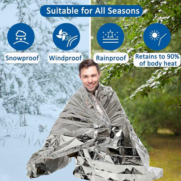 Foil Thermal Emergency Blanket - Halex Outdoor Gear / Survival / Tactical