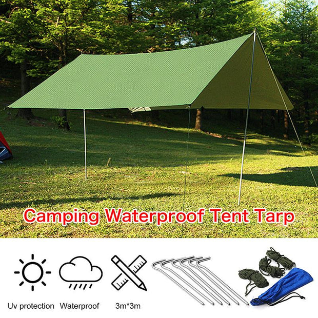 10' x 10' Waterproof Camping Tent Tarp - Halex Outdoor Gear