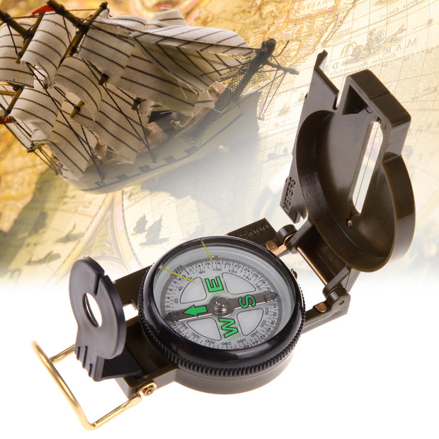 Portable Folding Compass - Halex Outdoor Gear / Survival / Tactical