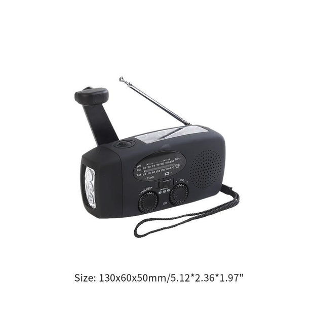 Multi-Functional Hand Crank Solar Radio - Halex Outdoor Gear / Survival / Tactical