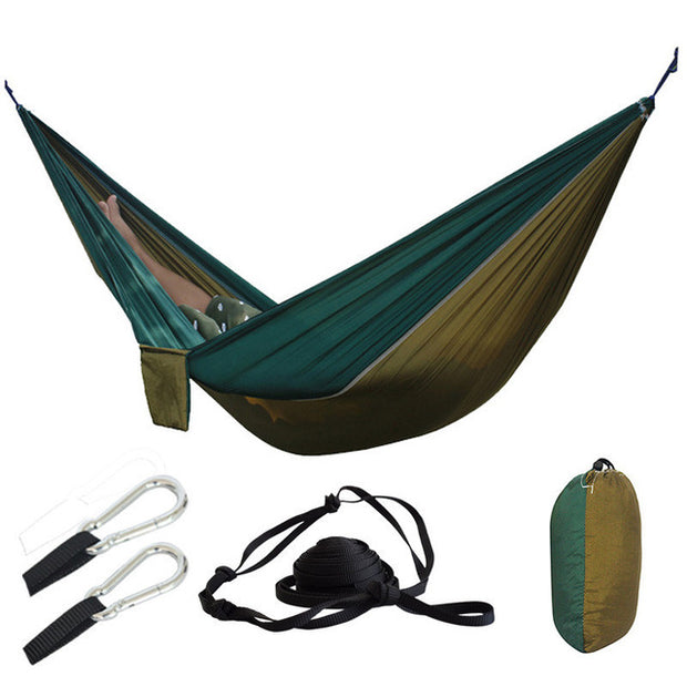 2-Person Large Parachute Camping Hammock w/ Tree Straps - Halex Outdoor Gear