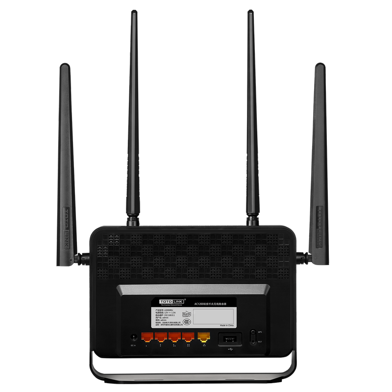 Totolink AC1200 MU-MIMO Wireless Router - A3000RU