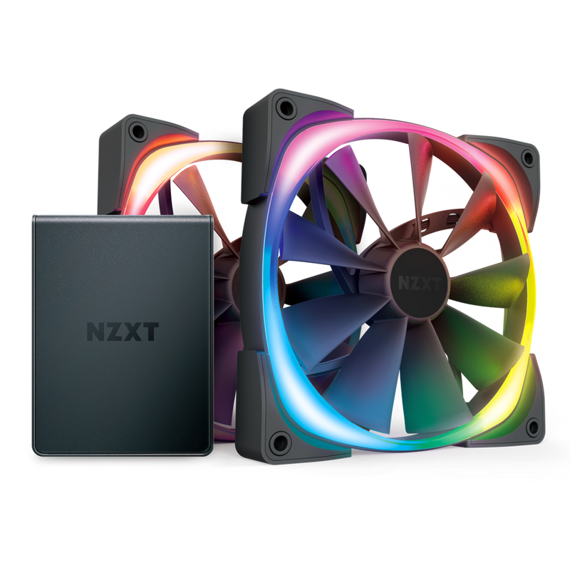 NZXT Aer RGB2 140mmx2  PACK with HUE 2 controllers