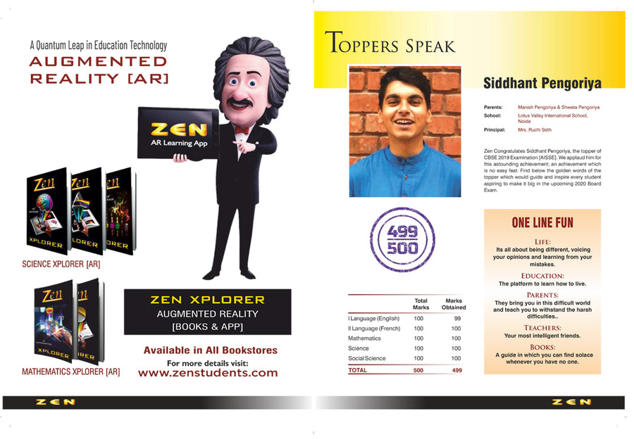 10th CBSE Zen Science Exam Reckoner 2020