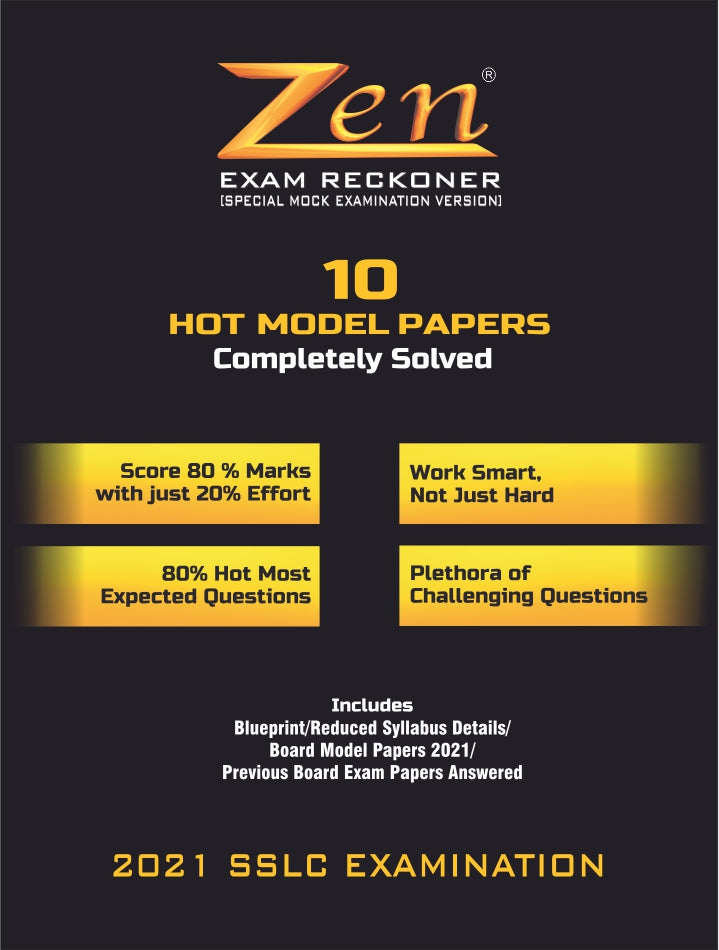Zen 10th SSLC Social Science Exam Reckoner 2021