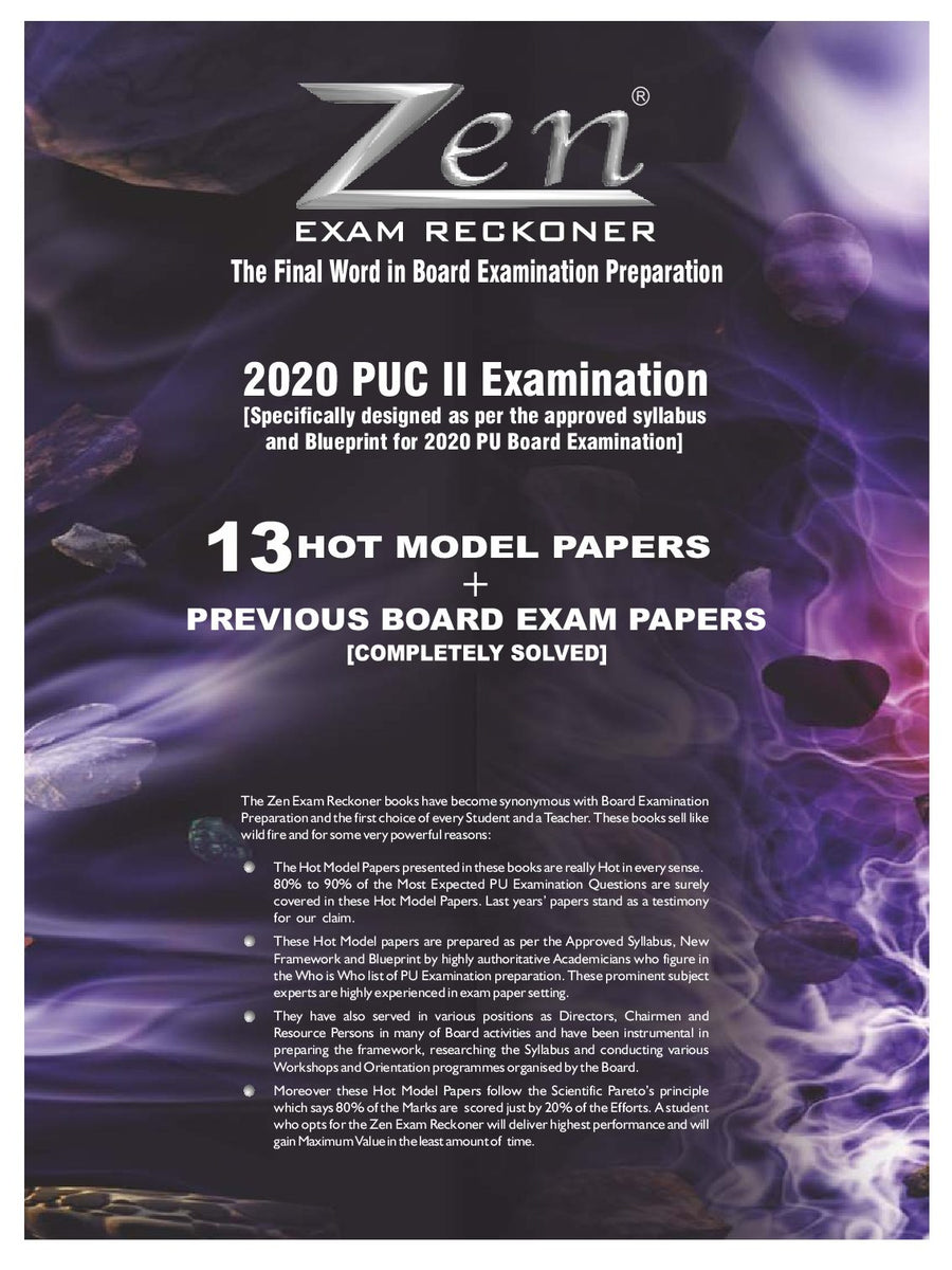 Karnataka PUC II Biology Exam Reckoner-2020
