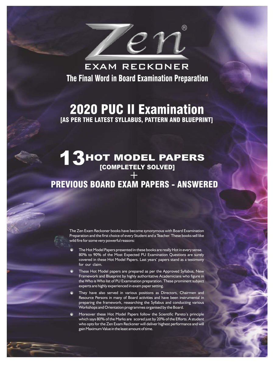 Chemistry PUC 2 Exam Reckoner