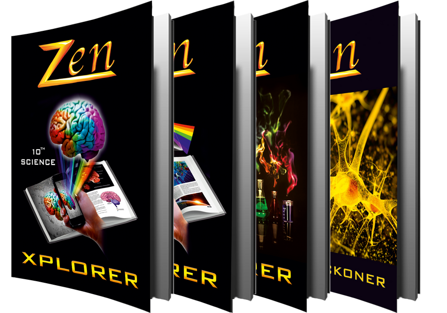Delhi Zen Science Xplorer – Vol 1, 2, 3 & 4 (with Free Zen AR App) – 10th (CBSE)