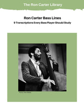 Load image into Gallery viewer, 9 Ron Carter Bass Line Transcriptions