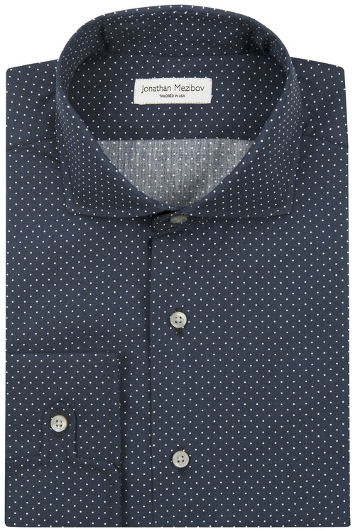 Tailored-Fit Wren Dot Print Sport Shirt